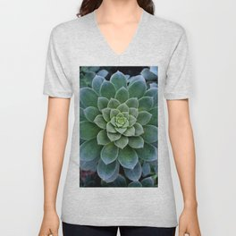 Shades of Succulent Green Unisex V-Neck