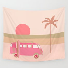 Surfers Paradise Boho Beach Spot With Camper Van Wall Tapestry