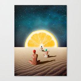 Desert Moonlight Meditation Canvas Print