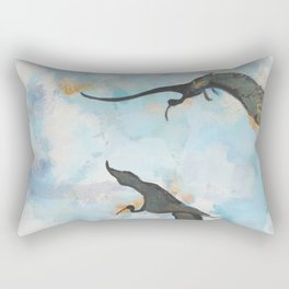 Ibises in Flight Rectangular Pillow