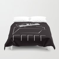 starlord Duvet Covers featuring Gardians of the galaxy ( awesome mix vol.1) by MISTER BLACKWHITE