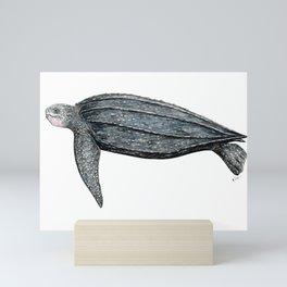 Leatherback turtle (Dermochelys coriacea) Mini Art Print