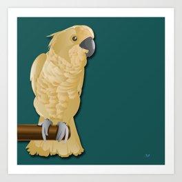 Ivory the Bird Art Print