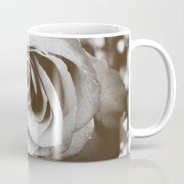Rose with Raindrops in Tintype Coffee Mug
