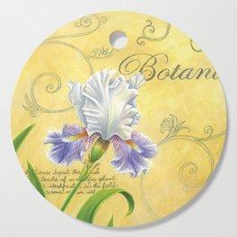 Purple and White Iris Cutting Board