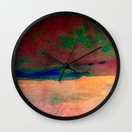 sunset/soft light/abstract/nature/sea Wall Clock