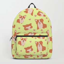 Corgi Love Print Backpack