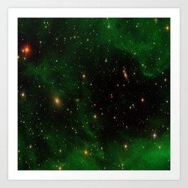 Nebula California, An Emerld Delight Art Print