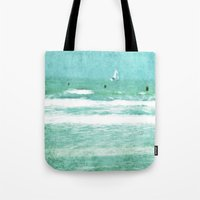 sailing Tote Bags featuring sailing by Iris Lehnhardt