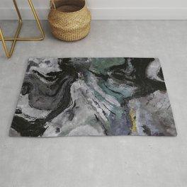 Gray Abstract Painting / Grey Minimalist Wall Art Rug