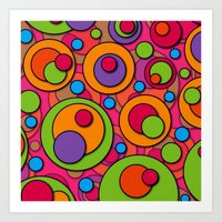 polka dots Art Prints featuring Polka Dots by Shelly Bremmer