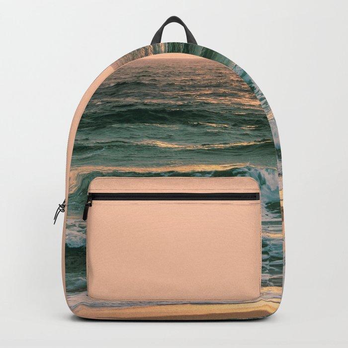 Pink Skies Ocean Vibes Backpack