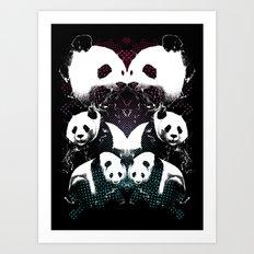 PANDA COLLIDE Art Print