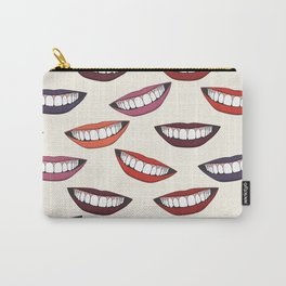 Beautiful female smile with colorful lipsticks Carry-All Pouch