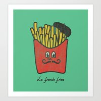 fries Art Prints featuring French Fries by Picomodi