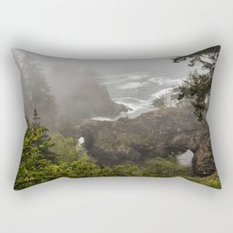 Fog Over Natural Bridges Rectangular Pillow