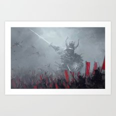 dark shogun Art Print