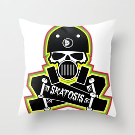SKATOSIS Throw Pillow