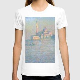 """Claude Monet """"The Church of San Giorgio Maggiore, Venice"""" T-shirt"""