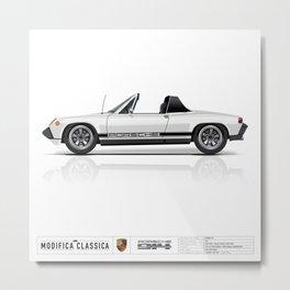 Porsche 1974 914 Light Ivory with Livery Metal Print