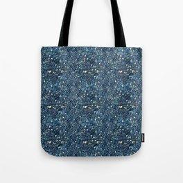 Aqua Blue Aurora Borealis Close-Up Crystal Tote Bag