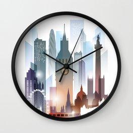 London city skyline, United Kingdom Wall Clock