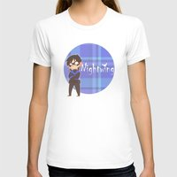 nightwing T-shirts featuring Chibi Nightwing by psych0tastic
