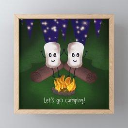 Let's Go Camping! Framed Mini Art Print