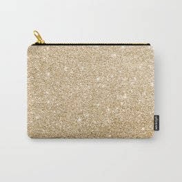 Modern abstract gold gradient elegant glitter Carry-All Pouch