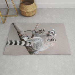 RINGTAILED LEMUR FAMILY by Monika Strigel Rug