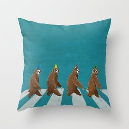 Sloth the Abbey Road Throw Pillow