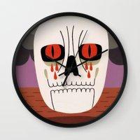 fear Wall Clocks featuring Fear by Jack Teagle