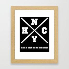 New York hardcore Framed Art Print
