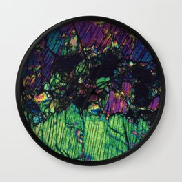 Pyroxene Crystals Wall Clock