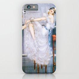 Louis Icart - Hunting - At Bar - Digital Remastered Edition iPhone Case
