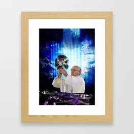 DJ Earth Pope Francis, EDM Holy Father Framed Art Print