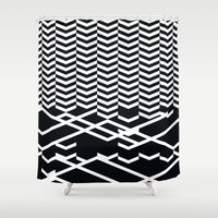 defragmentation Shower Curtain