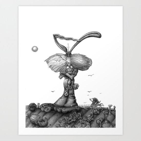 Ed Jack Rabbit Art Print