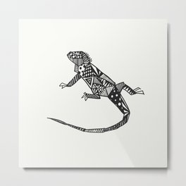 Iguana Iguana Metal Print