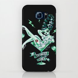 Bride of Frankenstein in a Martini Glass iPhone Case