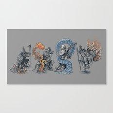 earth - fire - water - (bad) air Canvas Print