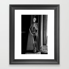 The Skeleton by the Printer Framed Art Print
