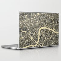 london map Laptop & iPad Skins featuring London map by Map Map Maps