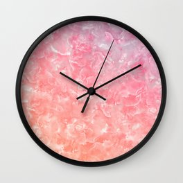 Rose & Gold Mother of Pearl Texture Wall Clock