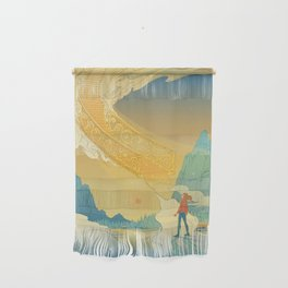 Golden Staircase Wall Hanging