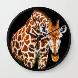 Graffic Giraffe Wall Clock