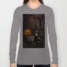 Beautiful Witch Halloween Night Long Sleeve T-shirt
