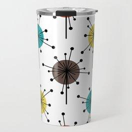 Atomic Era Sputnik Starburst Flowers Travel Mug