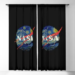Starry Nasa Blackout Curtain