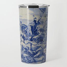 Portuguese traditional tile artwork Travel Mug